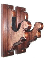 Walnut Wooden Gun Rack Hangers Rifle Shotgun Sword Fancy Wall Display