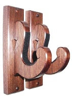 Walnut Wooden Gun Rack Hangers Rifle Shotgun Sword Scroll Wall Display