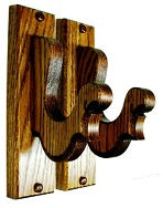 Oak Wooden Gun Rack Hangers Rifle Shotgun Sword French Wall Display