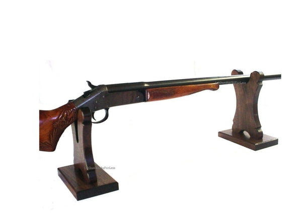 Walnut Gun Stand by Gun Racks For Less