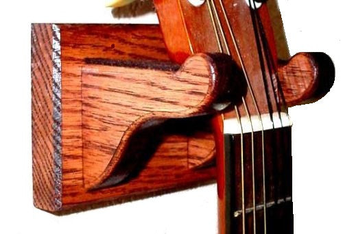 Oak Wooden Guitar Hanger Wall Mount Display