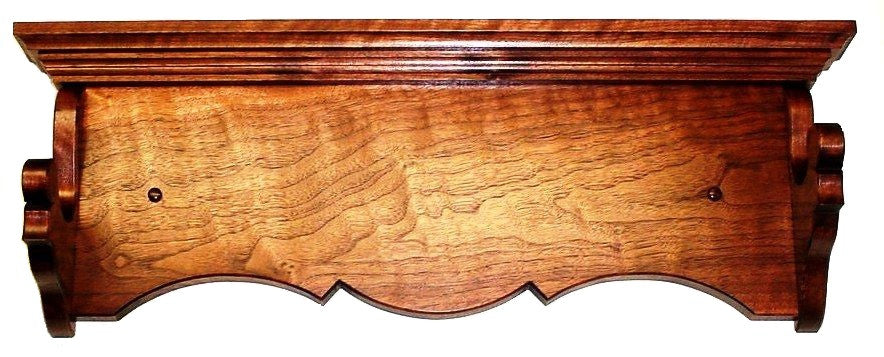 Walnut Wooden Gun Rack Antique Rifle Shotgun Heritage Wall Display