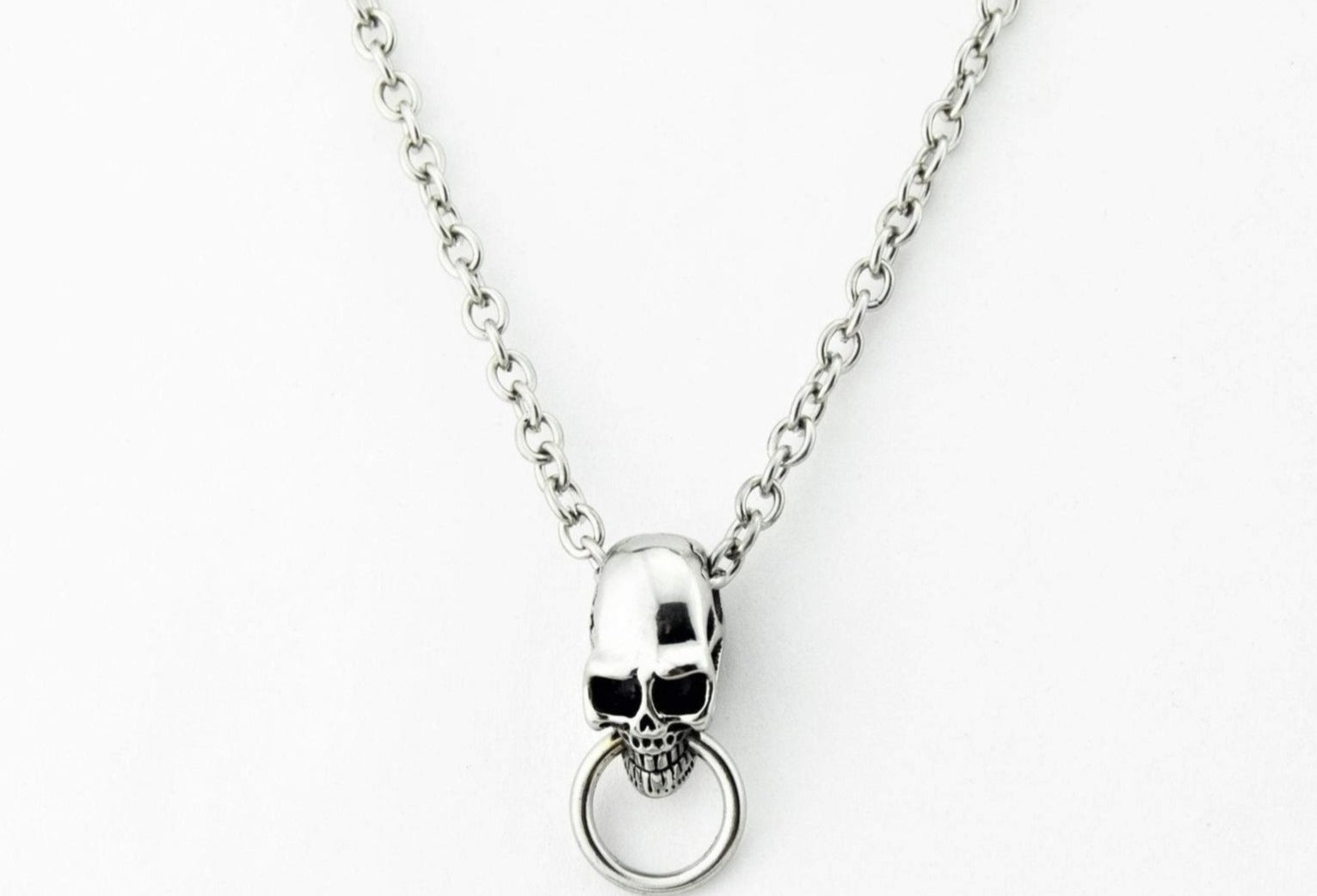 316L Surgical Stainless Steel Deluxe Skull O Ring BDSM Day Collar