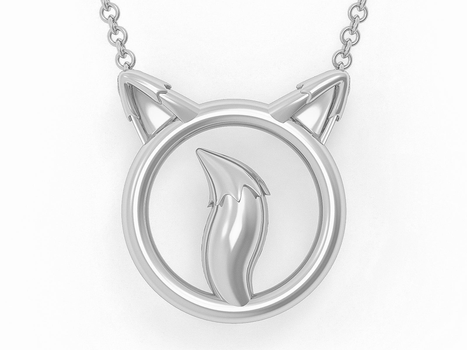 Solid 925 Sterling Silver Fox O Ring BDSM Day Collar