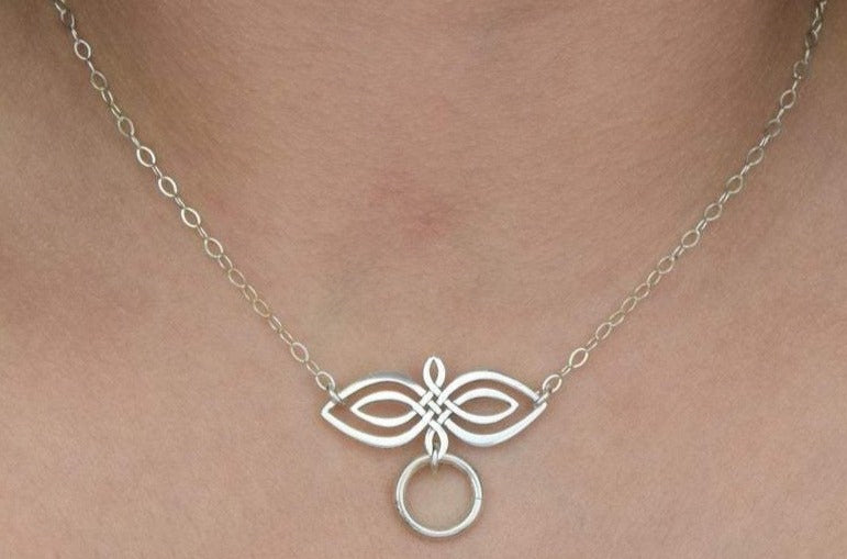 Celtic Double Infinity Solid 925 Sterling BDSM Day Collar cdi