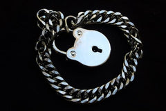 High Quality 316L Surgical Hypoallergenic 316L Stainless Steel Locking, lock, padlock BDSM Day Collar Bondage Sub Kink Slave Submissive ToBeHis Engraving