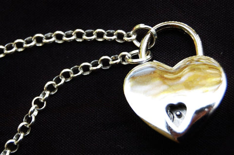Celtic Heart Solid 925 Sterling Silver BDSM Day Collar
