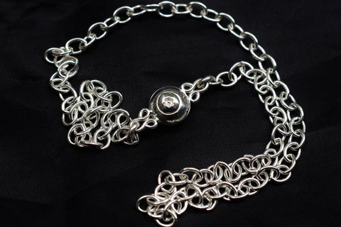 Classic Oval link 925 Sterling Silver BDSM Day Collar