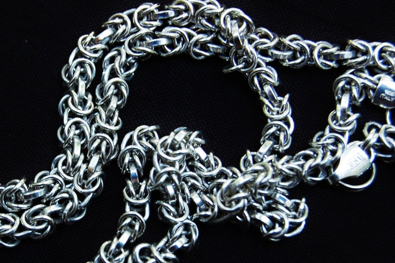 Woven Rings Solid 925 Sterling Silver BDSM Day Collar