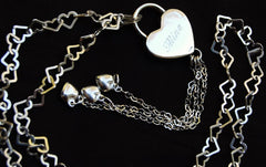 Love Hearts Solid 925 Sterling Silver BDSM Day Collar