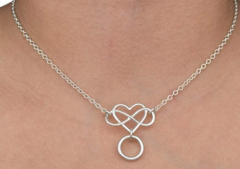 Infinity Heart 925 Sterling BDSM Day Collar