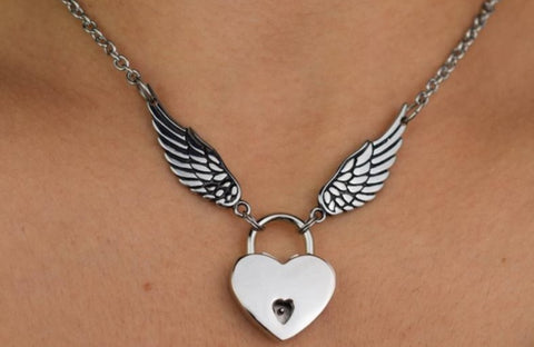 316L Surgical Stainless Steel Deluxe Angel Wings BDSM Day Collar