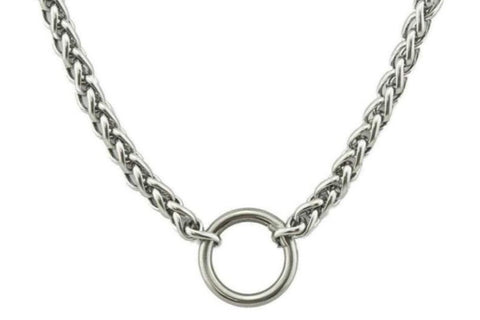Solid 316L Surgical Stainless Steel Makou O Ring  BDSM Day Collar