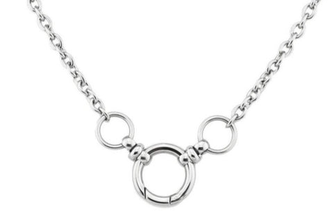316L Surgical Stainless Steel Triple O Ring BDSM Day Collar