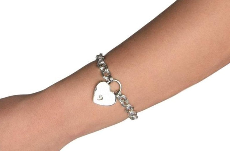 Double Link 925 Sterling Silver BDSM Day Wrist Collar