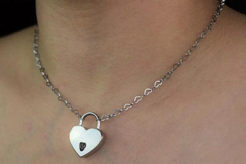 316L Surgical Stainless Steel Micro Hearts BDSM Day Collar