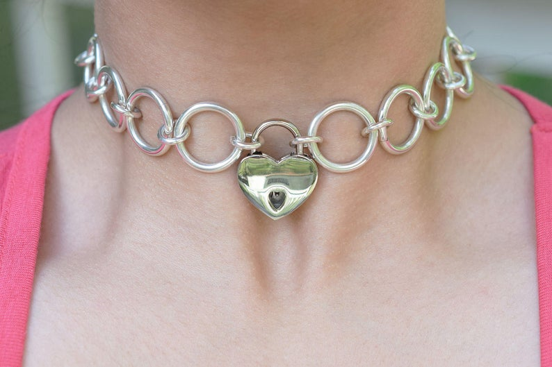Solid 925 Sterling Silver Eternity Ring link Locking BDSM Slave Submissive Bondage Day Collar Hypoallergenic ToBeHis