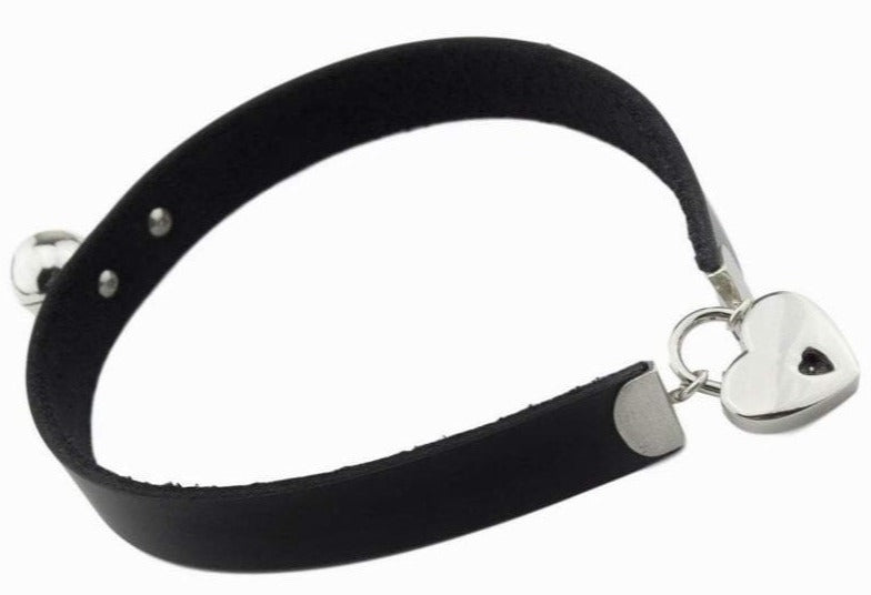 High Grade Leather and Solid 925 Sterling Silver BDSM Day Collar