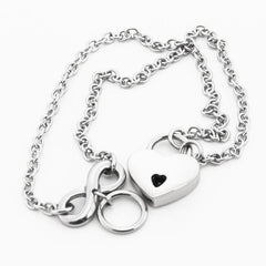 316L Surgical Stainless Steel Infinity O-Ring BDSM Day Collar