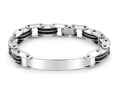 Custom Engraving Dominant High Quality 316L Surgical Stainless Steel Biker Chain Style Master Bracelet