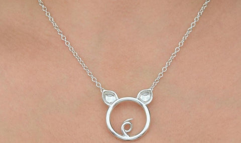 Solid 925 Sterling Silver  Pet Piggy O Ring BDSM Day Collar