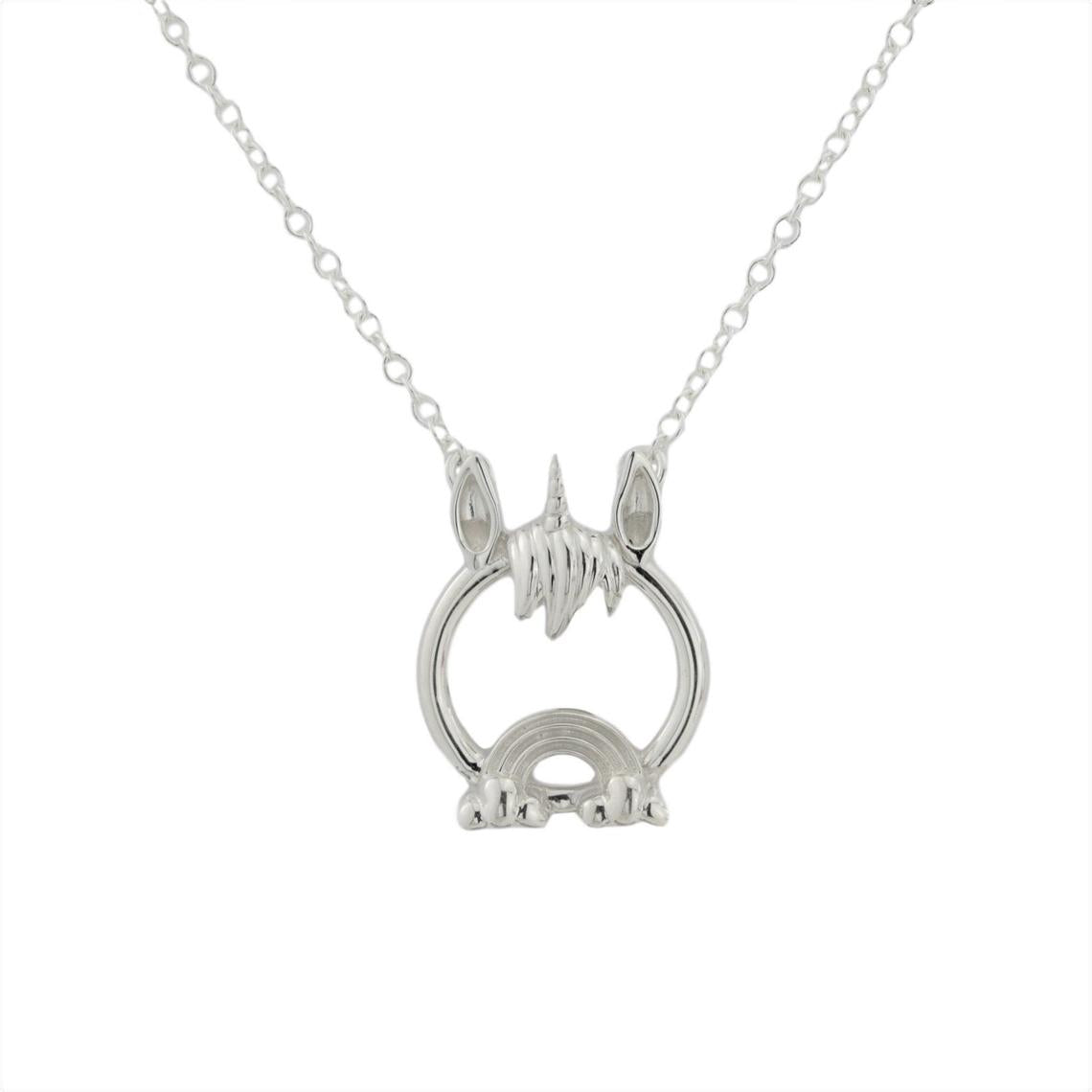 Solid 925 Sterling Silver Pet Unicorn O Ring BDSM Day Collar
