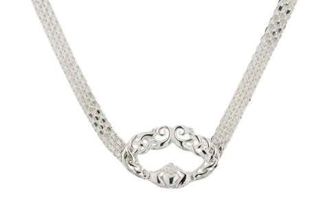 Celtic Claddagh Solid 925 Sterling Silver BDSM Day Collar