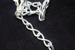 High Grade 925 Sterling Silver INFINITY Link Locking BDSM Slave Bondage Submissive Sub Pet Day Collar & FREE lock