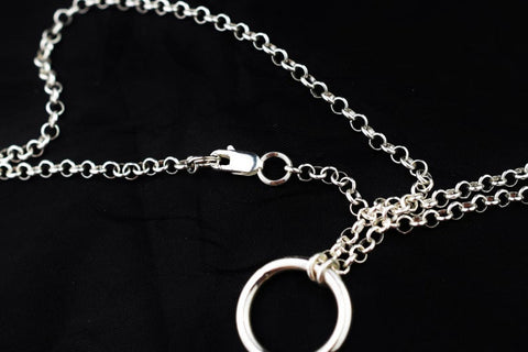 Med O-Ring Solid 925 Sterling Silver BDSM Day Collar