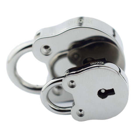World's Only Solid 316L SURGICAL STAINLESS STEEL HYPOALLERGENIC Functional Round Padlock Lock & One Key BDSM Slave Sub Bondage Collar  $49.95