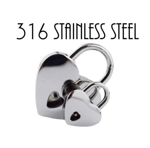World's Only Solid 316L SURGICAL STAiNLESS STEEL HYPOALLERGENiC Functional Padlock Lock & One Key BDSM Slave Sub Bondage Collar  $49.95