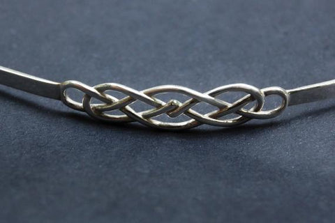 Discreet Micro Celtic Forever Knot Solid 925 Sterling Silver Locking BDSM Slave Submissive Sub Pet ddlg Bondage Day Collar & FREE Lock