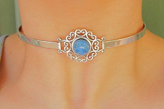 Denim Lapis AAA Qulity Solid 925 Sterling Silver Discreet Neck Cuff Locking BDSM Slave Submissive Sub Pet Baby Girl Bondage Day Collar & Lock