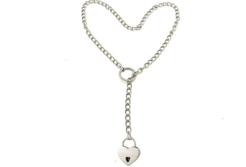 Classic Lariat Solid 925 Sterling Silver BDSM Day Collar   g5