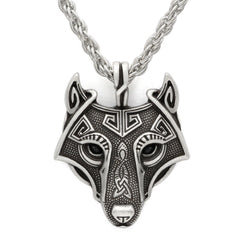 Dominant 316L Celtic Wolf  Surgical Stainless Steel High Quailty Necklace