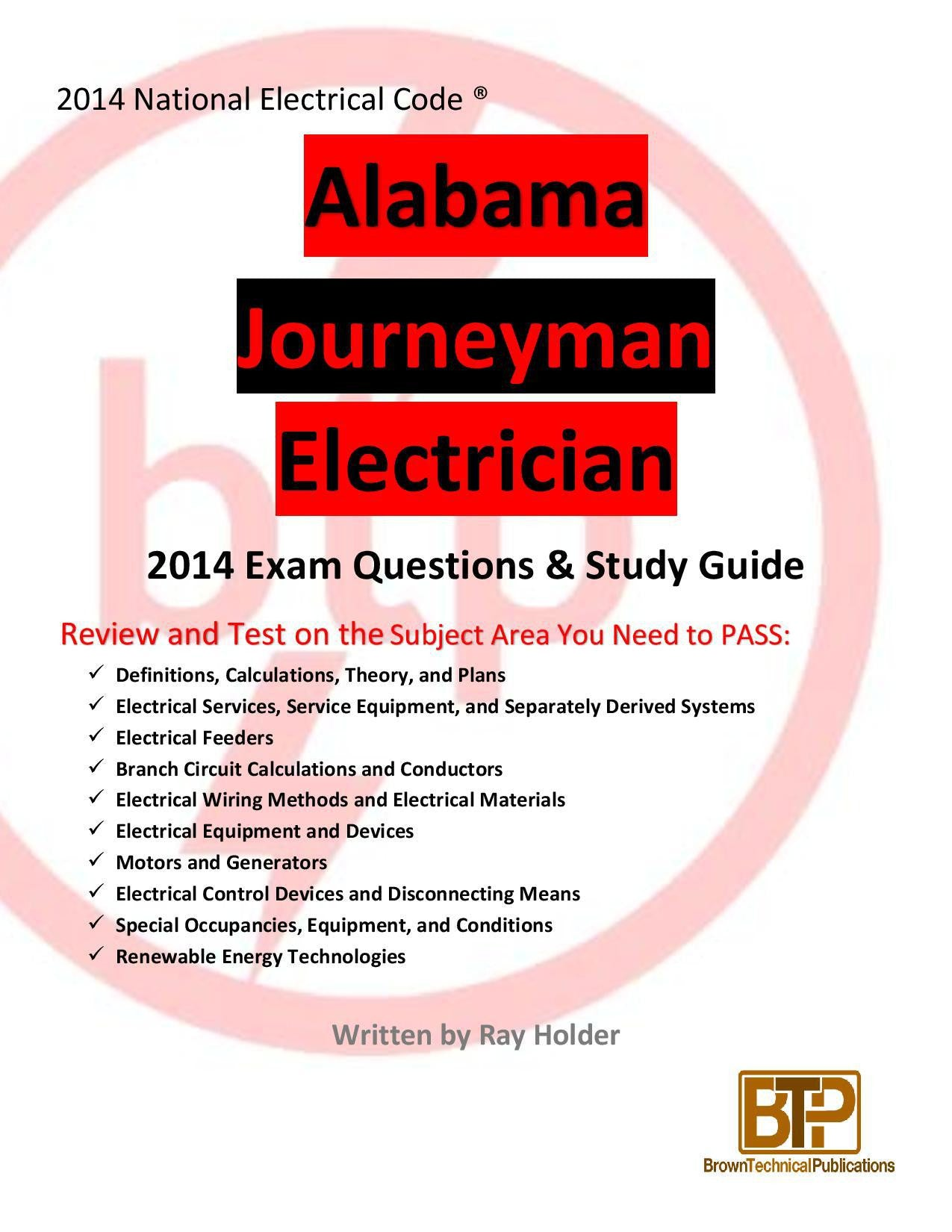 Alabama Journeyman Exam Information