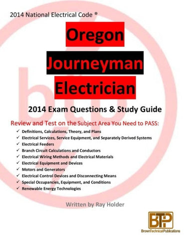 Oregon 2014 Journeyman Electrician Study Guide