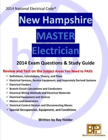 New Hampshire 2014 Master Electrician Study Guide