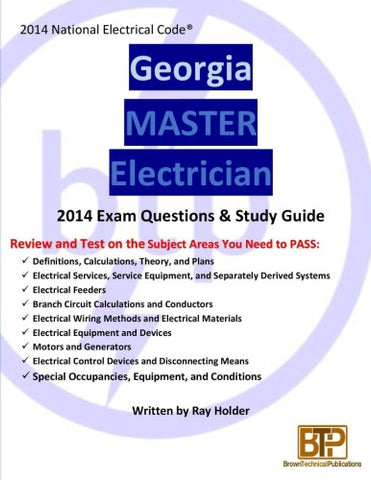 Georgia 2014 Master Electrician Study Guide