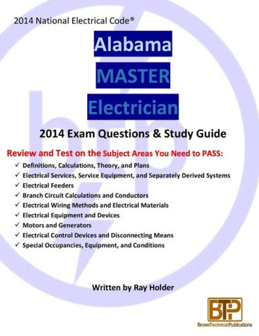 Alabama 2014 Master Electrician Study Guide