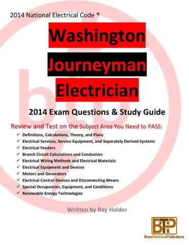 Washington 2014 Journeyman Electrician Study Guide