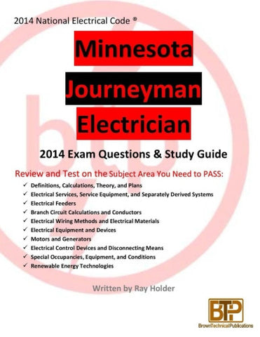 Minnesota 2014 Journeyman Electrician Study Guide