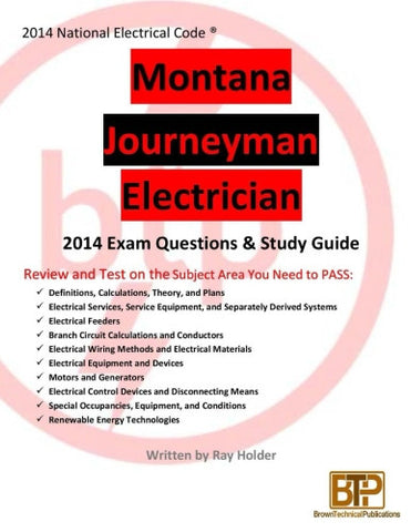 Montana 2014 Journeyman Electrician Study Guide
