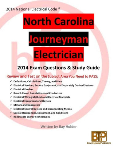 North Carolina 2014 Journeyman Electrician Study Guide