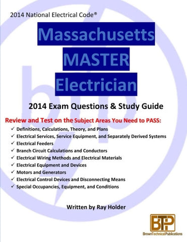 Massachusetts 2014 Master Electrician Study Guide