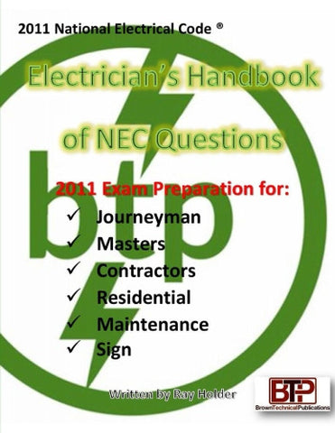 2011 Electricians Handbook of NEC Questions