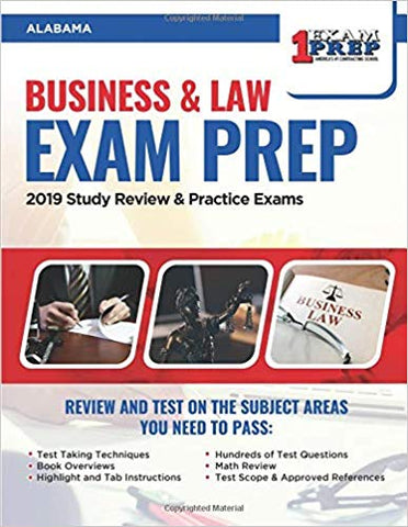 Alabama Business and Law Exam: 2019 Study Review & Practice Exams