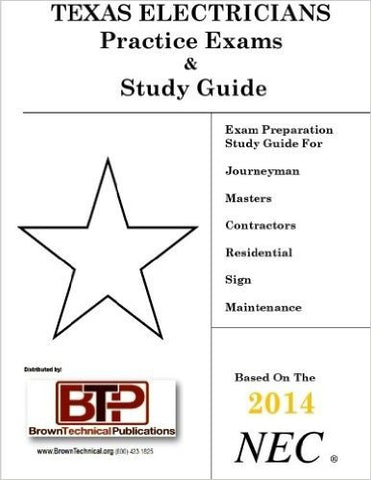 Texas Electricians Practice Exams & Study Guide 2014