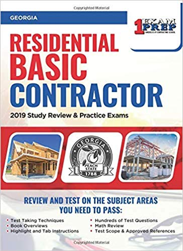 Georgia Residential Contractor: 2019 Study Review & Practice Exams