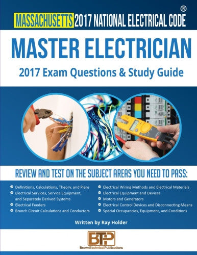 Massachusetts 2017 Master Electrician Exam Questions and Study Guide